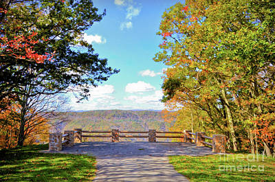 Photograph - Pipestem State Park - Autumn Overlook by Kerri Farley