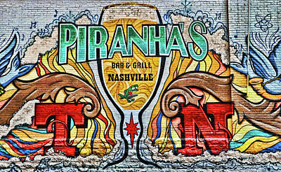 Photograph - Piranaha's Bar And Grill # 2 - Nashville by Allen Beatty