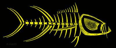 Photograph - Piranha Bonefish Yellow by Rob Hans