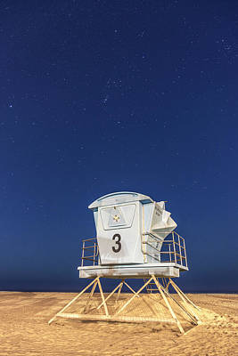 Photograph - Pismo Lifeguard Stand With Stars  by John McGraw