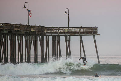 Photograph - Pismo Pier And Surfer  by John McGraw