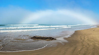 Photograph - Pismo State Park Beach And Rainbow Starting  by John McGraw