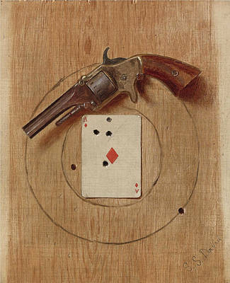 Painting - Pistol And Ace by De Scott Evans