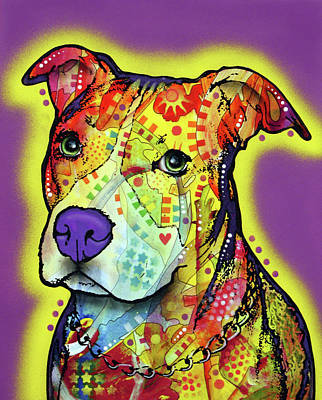 Painting - Pitbull 2 by Dean Russo Art