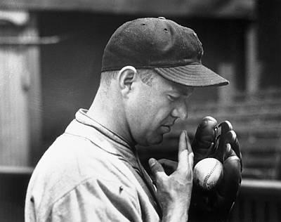 Photograph - Pitcher Burleigh Grimes Demonstrating by Bettmann