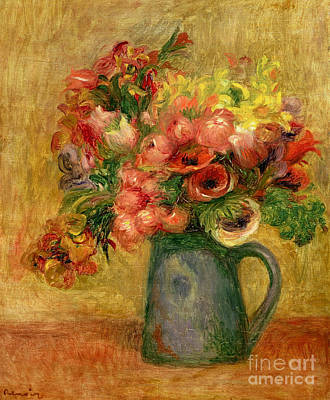 Painting - Pitcher Of Flowers, Circa 1889 by Pierre Auguste Renoir