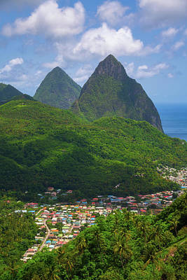 Royalty-Free and Rights-Managed Images - Pitons Over Soufriere by Darren White