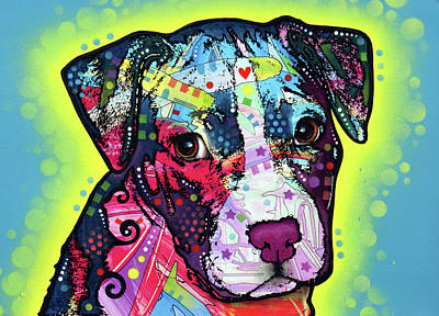 Painting - Pitty Puppy by Dean Russo Art