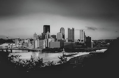Pop Art Rights Managed Images - Pittsburgh Black and white Royalty-Free Image by Dan Urban