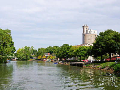Photograph - Pittsford New York On The Erie Canal by Louise Heusinkveld