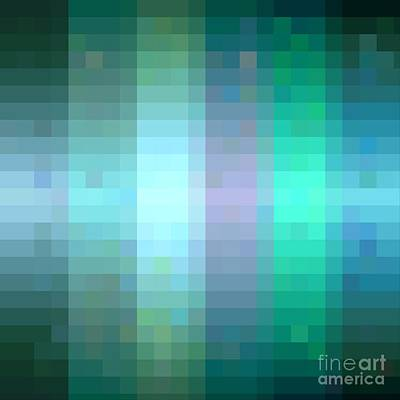 Digital Art - Pixelated Paradise Fusion by Rachel Hannah