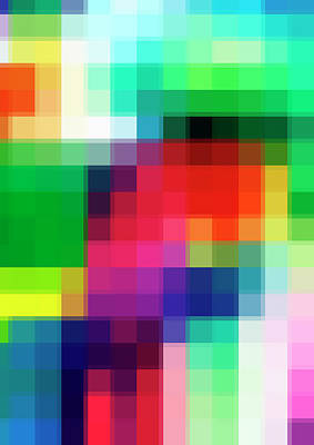 Digital Art - Pixelated View Of Colorful Shapes by Studio Parris Wakefield