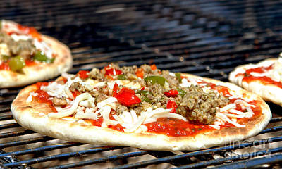 Photograph - Pizza On The Grill by Olivier Le Queinec