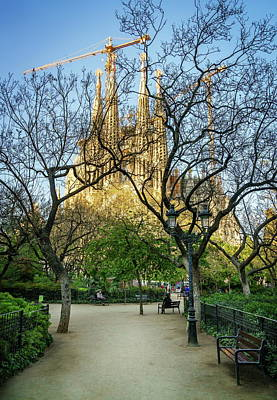 Impressionist Landscapes - Placa de la Sagrada Familia by Alexey Stiop