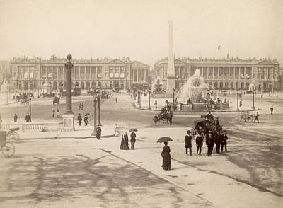 Photograph - Place De La Concorde by Otto Herschan Collection