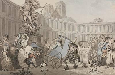 Drawing - Place Des Victoires, Paris by Thomas Rowlandson
