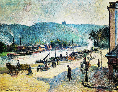 Painting - Place Lafayette, Rouen by Camille Pissarro