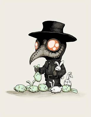 Drawing - Plague Doctor Experiments  by Ludwig Van Bacon