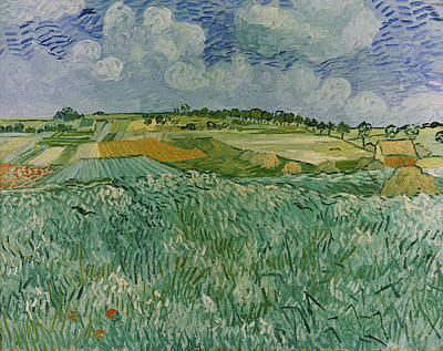 Painting - Plain Near Auvers By Vincent Van Gogh by Superstock