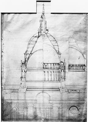 Plan Of St Pauls Art Print by Topical Press Agency