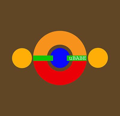 Digital Art - Planet Babe by Ubabe Style