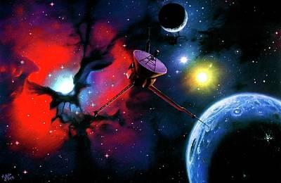 Photograph - Planet In Nebula by Mark Garlick/spl