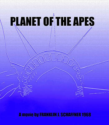 Science Fiction Mixed Media - Planet of the apes minimalsim movie poster by David Lee Thompson
