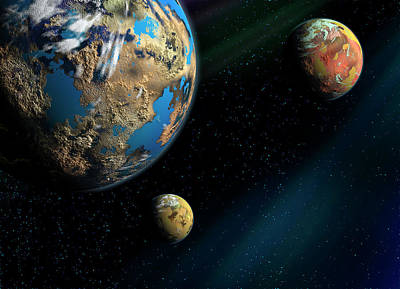 Photograph - Planets, An Artistic Illustration by Soumen Nath Photography