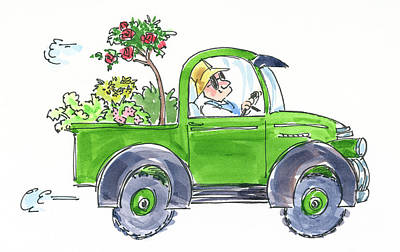 Painting - Plant Delivery by Garden Gate magazine