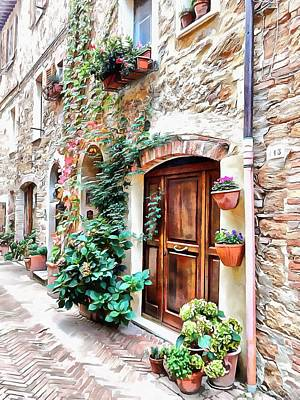 Photograph - Plant Pots And Doorways Pienza by Dorothy Berry-Lound