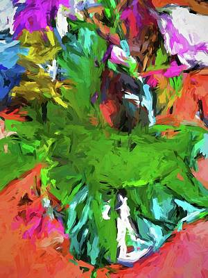 Painting - Plant With The Green And Turquoise Leaves by Jackie VanO