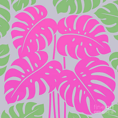 Royalty-Free and Rights-Managed Images - PLANTS - philodendron#3_Pink by Bobbi Freelance