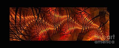 Digital Art - Plasma Stream Black Border by Doug Morgan