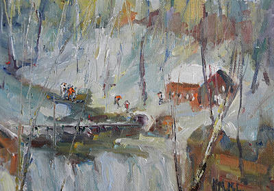 Wall Art - Painting - Play At The Old Mill by Kathryn McMahon
