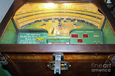 Photograph - Play Ball With The All Americans Baseball Vintage Penny Arcade Machine Dsc6860 by Wingsdomain Art and Photography