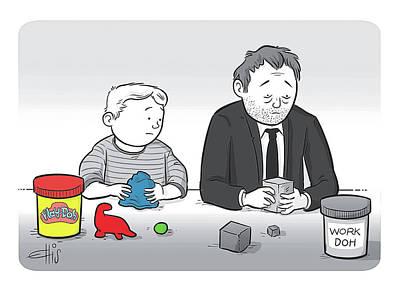 Work Drawing - Play Doh Work Doh by Ellis Rosen