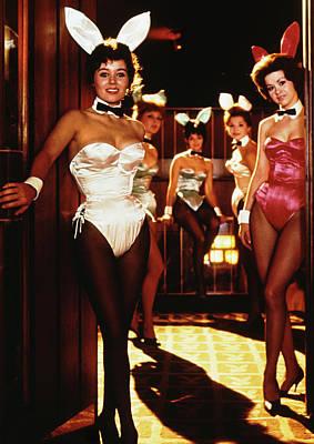 Photograph - Playboy Bunnies At Door Of Club by Bettmann