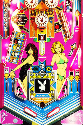 Photograph - Playboy Pinball Machine Arcade Nostalgia 20181221 by Wingsdomain Art and Photography