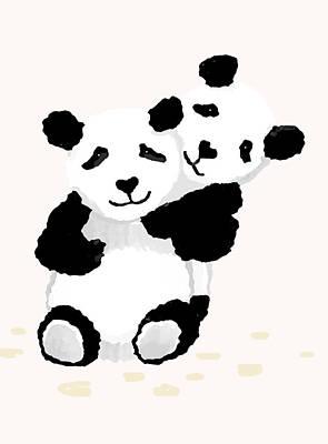 Painting - Playful Pandas by Steven Clarke