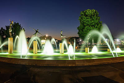 Photograph - Playing Children Fountain - Kansas City Missouri by Gregory Ballos