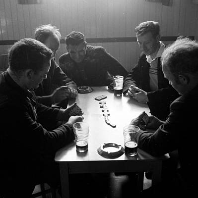 Pub Photograph - Playing Dominoes by John Drysdale