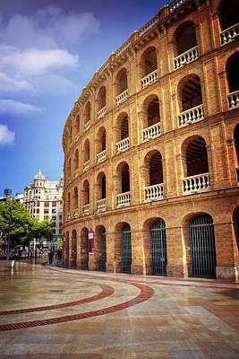 Toro Wall Art - Photograph - Plaza De Toros De Valencia Spain by Carol Japp