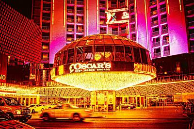 Photograph - Plaza Hotel And Casino, Las Vegas At Night by Tatiana Travelways