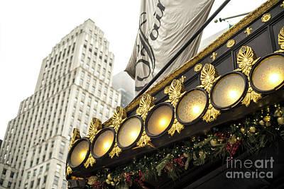 Photograph - Plaza Hotel Lights New York City by John Rizzuto