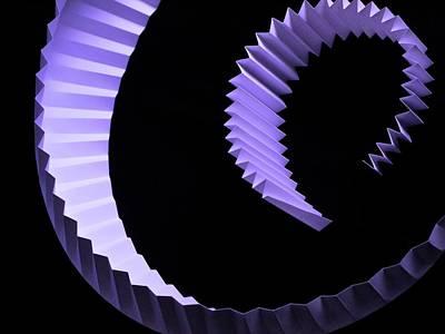 Photograph - Pleated Purple Paper Curves by Photo Ephemera