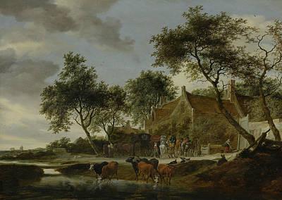 Painting - Pleisterplaats by Salomon van Ruysdael