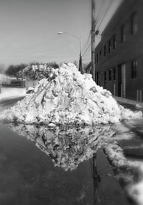 Photograph - Plowed Snow by Cate Franklyn