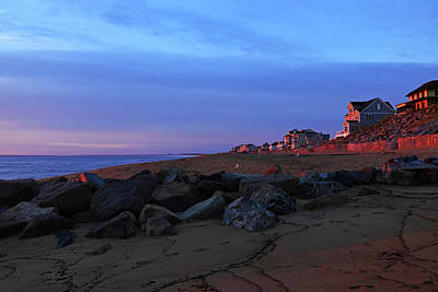 Photograph - Plum Island Beach Newburyport Ma Sunrise Red by Toby McGuire