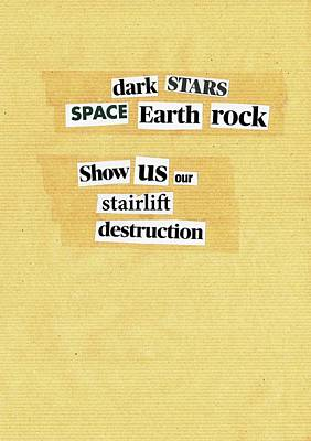 Mixed Media - Poem Poster 3 by Artist Dot
