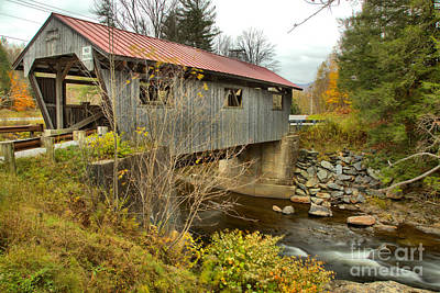Photograph - Power House Covered Bridge by Adam Jewell